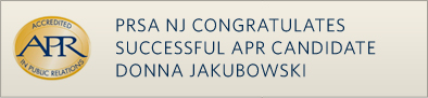 PRSA NJ Congratulates Successful APR Candidate Donna Jakubowski