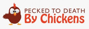 This graphic logo belongs to Death by Chickens Author Susan Maccarelli, whose humorous works are unrelated to the topic of brand journalism.