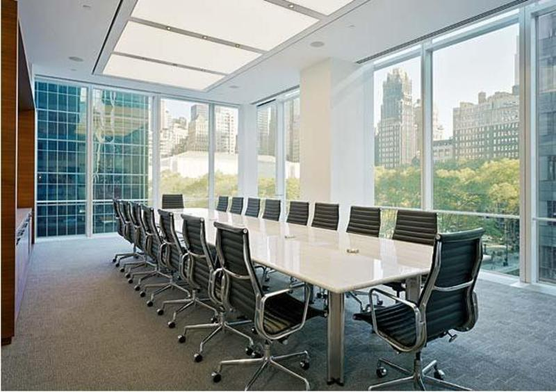 Bank of America Interior Design meeting room